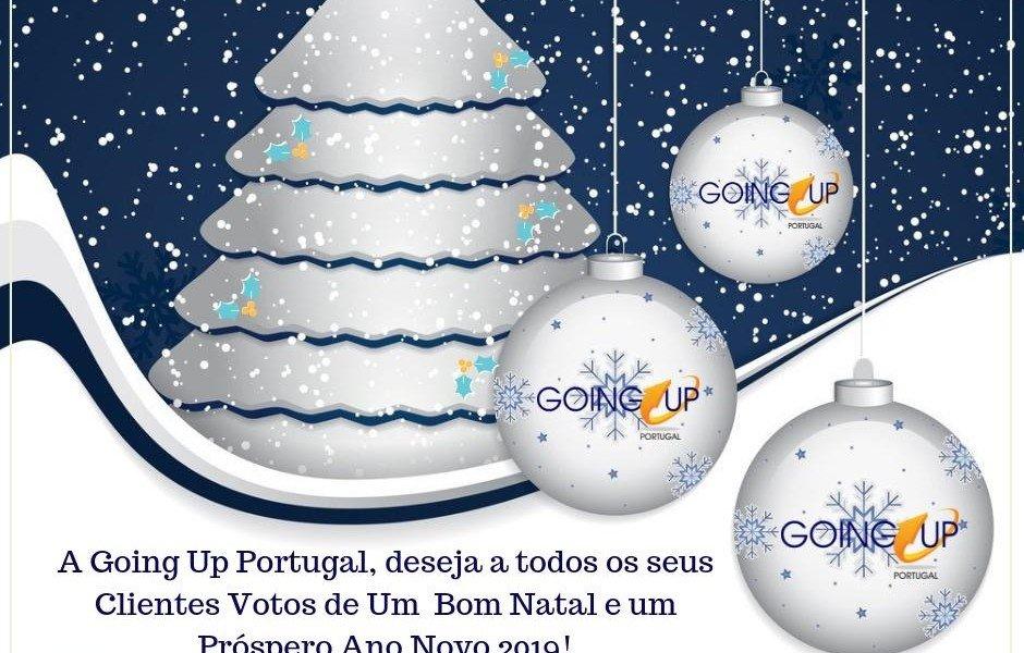 Postal de Natal Going UP Portugal